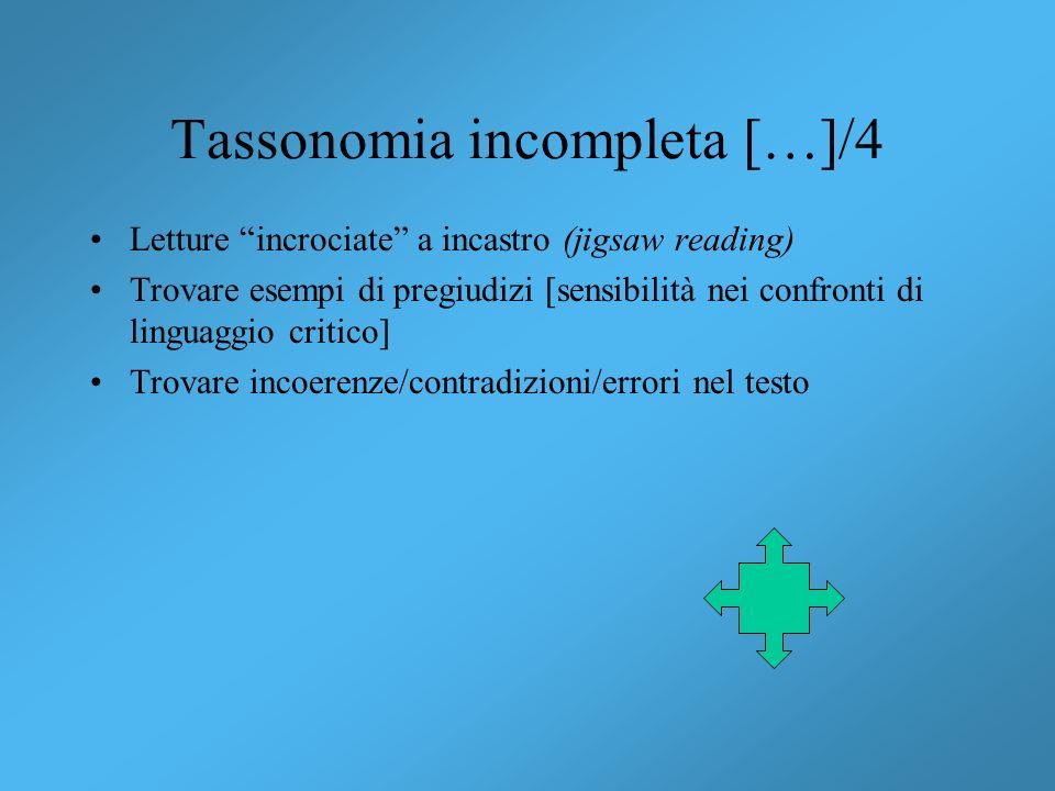 Tassonomia incompleta […]/4